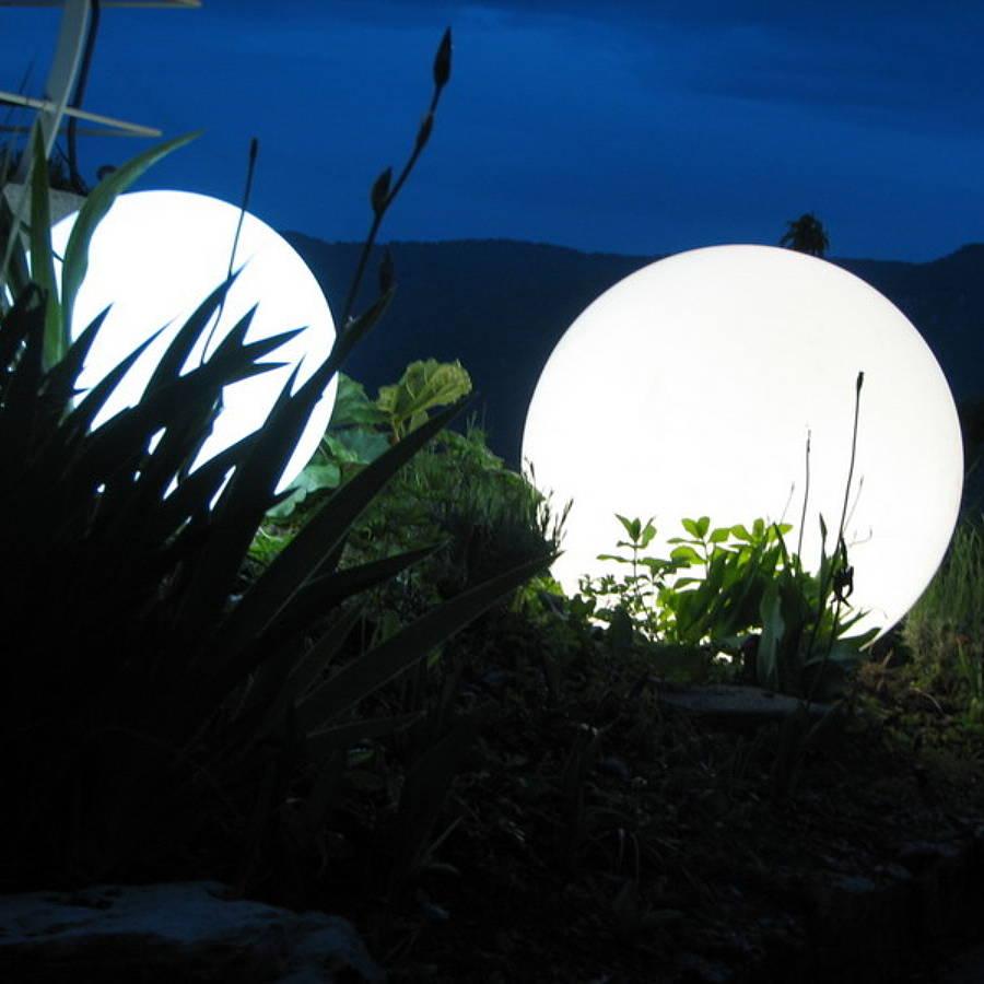 beleuchtete kugeln garten | illuminated light up garden balls ivip ...