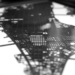 Laser Cut Map of Manhattan   iVIP BlackBox