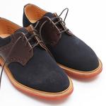 Mark Mcnairy Suede Saddle Navy Shoes   iVIP BlackBox