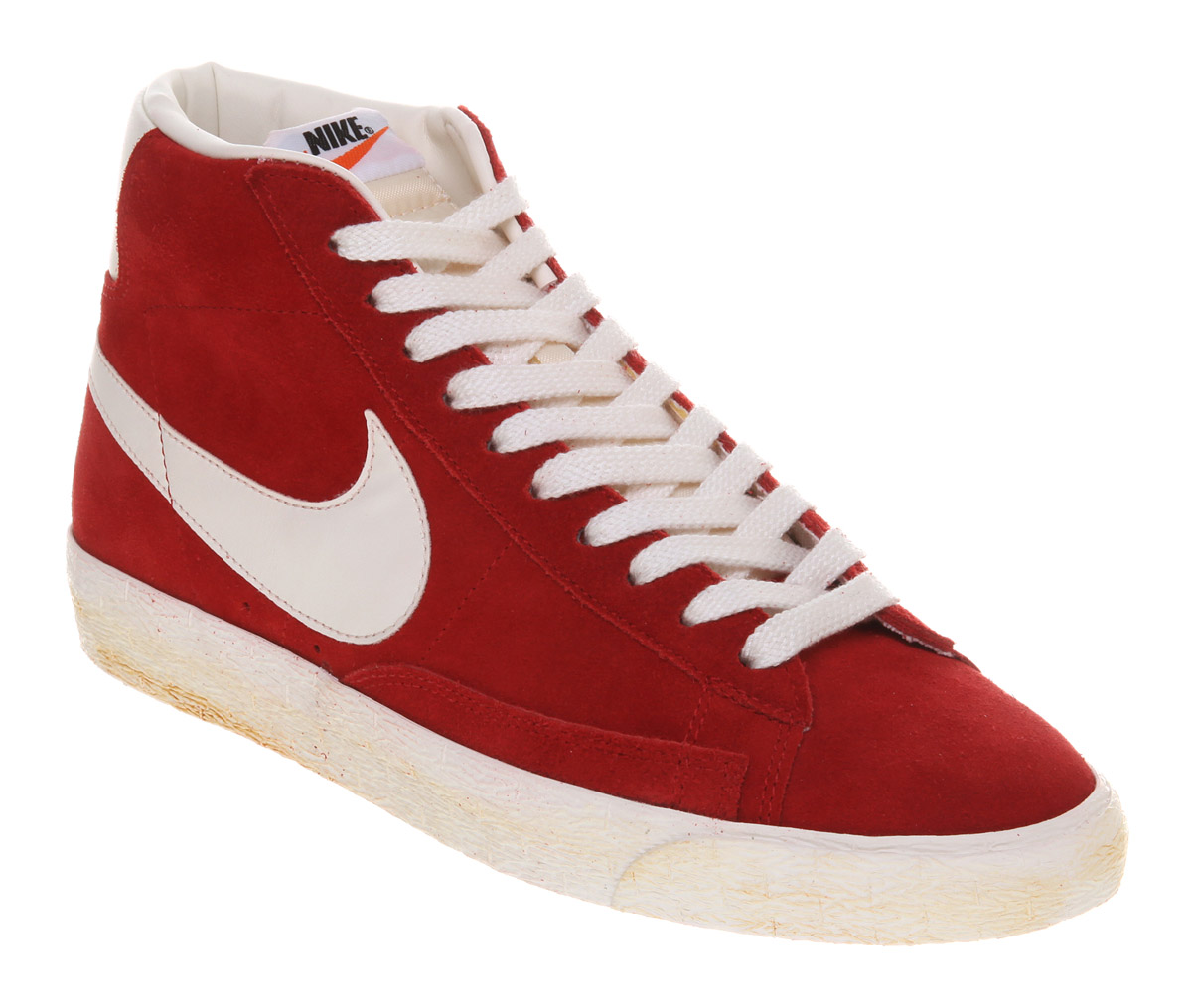 nike blazer high top red suede