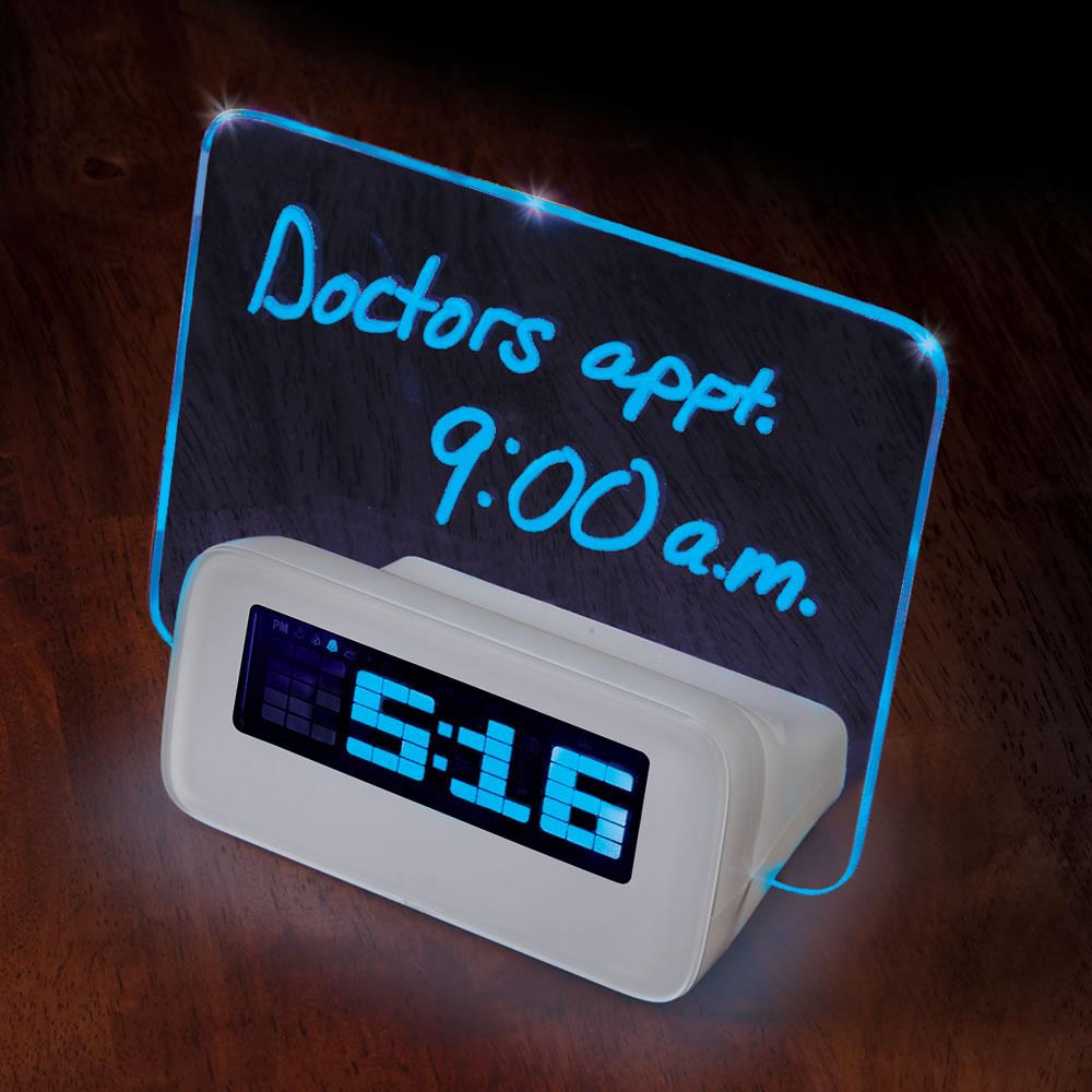 Scribble Message Illuminated Alarm Clock Ivip Blackbox