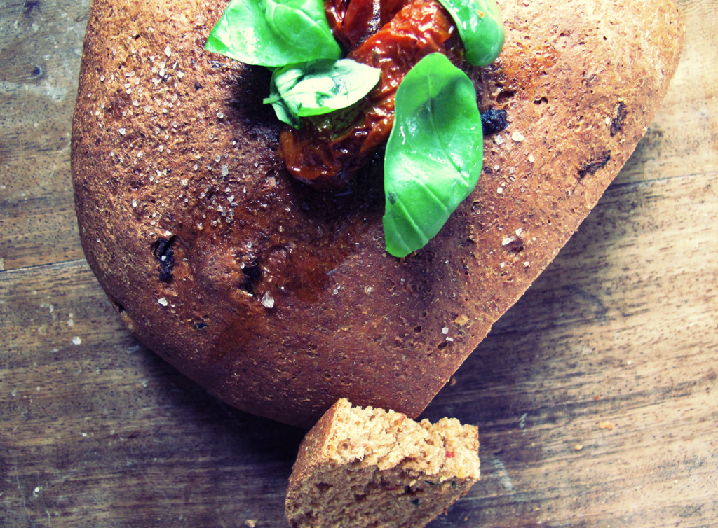 Sundried Tomato & Basil Spelt Loaf