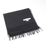 Charcoal Cashmere Scarf by Johnstons of Elgin | iVIP BlackBox