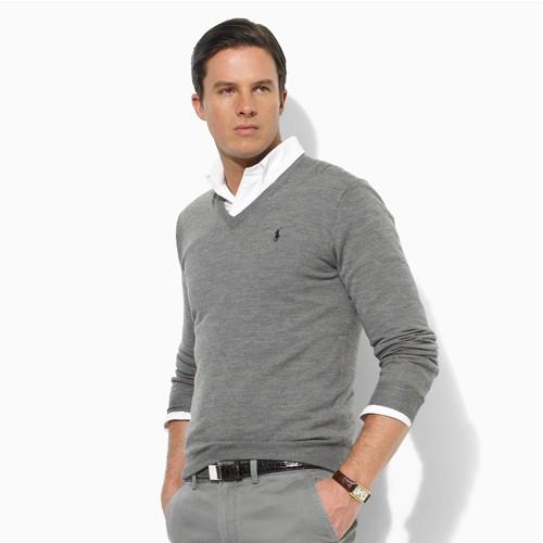 9449f23d79c02 Polo Ralph Lauren Classic Fine-knit Merino Wool V-neck Jumper