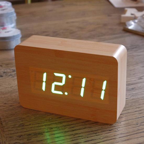 Wooden Digital Clock Ivip Blackbox