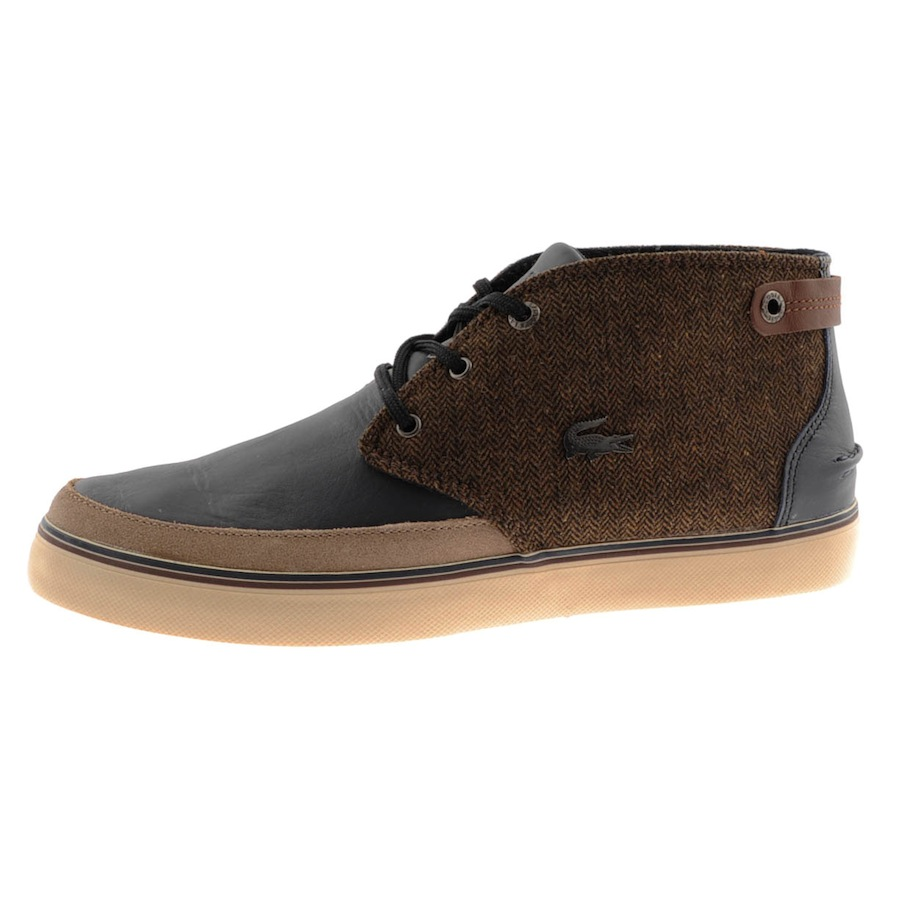 Lacoste Clavel Leather and Tweed Chukka